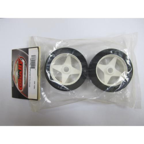 1:10 Front Tires on white S4 wheels – Plaid (1 pair)