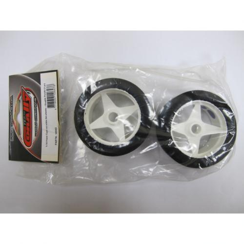 1:10 Front Tires on white S4 wheels – Double Purple (1 pair)