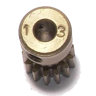 Corally Pinion 48 DP – Long – Hardened Steel – 13 Teeth