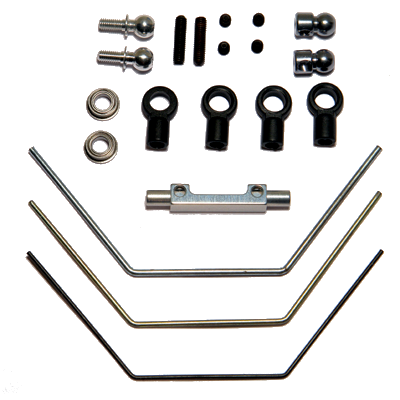 Corally HMX Anti-roll Bar Kit, incl. 1.0 – 1.3 – 1.6 mm wires (1 set front or rear)