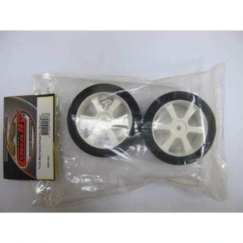 Touring Tires on White 6-Spoke Wheels (26 mm) – Purple (1 pair)