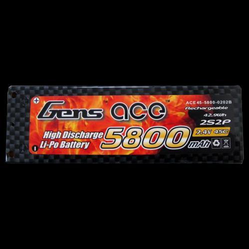 Genace 5800mah 7.4v 45c 2S2P Lipo