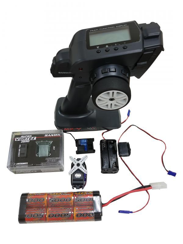 Sanwa MX-V w/RX-37W *1+SRM102Z*1+Super Vortex ESC+5000mah Batt.