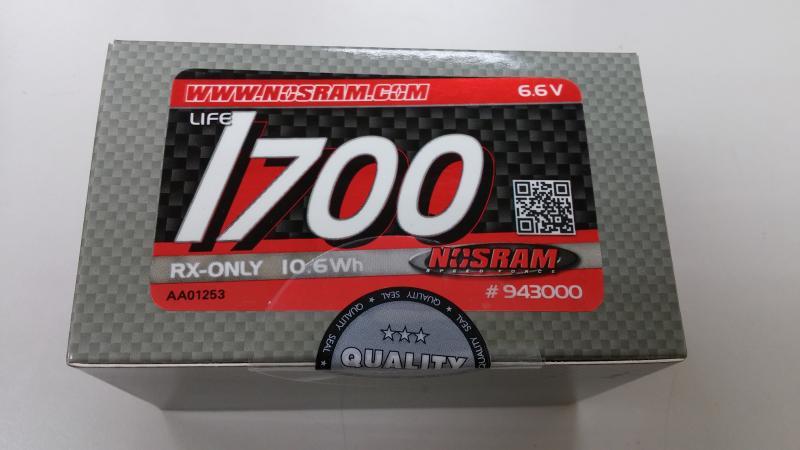 Nosram NR943000 LiFePo RX-Pack 1700 - Straight