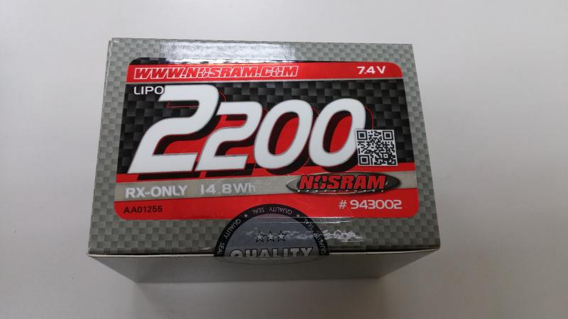Nosram NR943002 - VTEC Lipo RX-Pack 2200 - 7.4V Hump