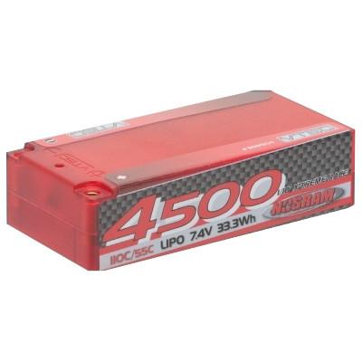 NOSRAM LiPo 4500 1/10 X-treme Race Short SubC Hardcase – 110C/55C – 7.4V,No.999504