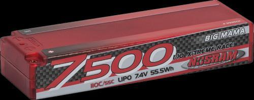 NOSRAM LiPo 1-10 Competition Car Line Hardcase 7500 - Big Mama - 110C-55C - 7.4V, 999507
