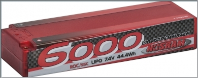 NOSRAM LiPo 6000 X-treme Race Hardcase - 110C/55C - 7.4V,999508
