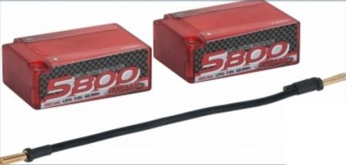NOSRAM LiPo 5800 1-10 X-treme Race Saddle Pack Hardcase - 110C-55C - 7.4V,999510