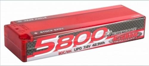 NOSRAM 5800 - TC Stock Spec - 110C/55C - 7.4V LiPo - 1/10 X-treme Race Hardcase,999516