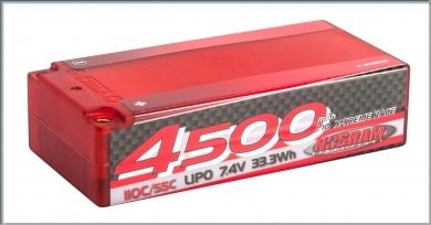 NOSRAM 4500 - Shorty - 110C-55C - 7.4V LiPo - 1-10 X-treme Race Hardcase,999521