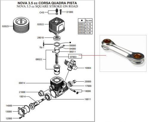 Novarossi conrod,07003