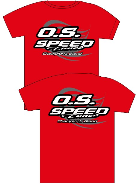 O.S. SPEED T-SHIRT 2015 RED (L)