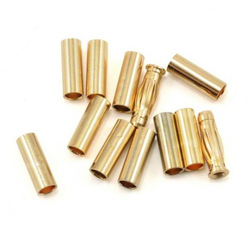 Gold Connector Set 2 Plugs - 10 Tubes, #40002