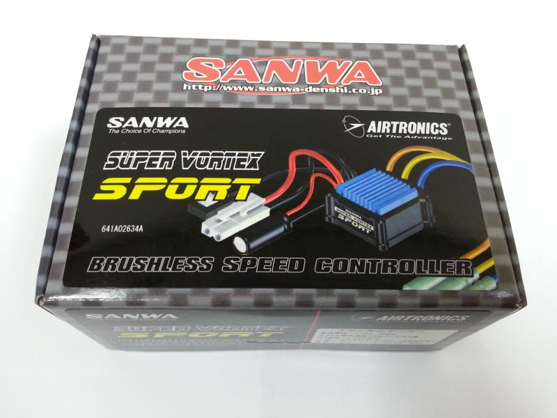 Sanwa Super Vortex Plus Sport Sensored Brushless Sport ESC,107A54257A