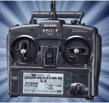 Sanwa Exzes ZZ 2.4GHz stick radio w/RX-472*1