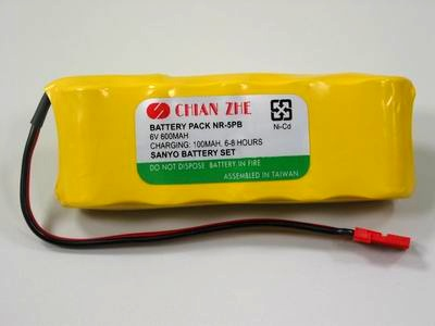 SANYO 6V 600mAh NiCd receiver battery pack
