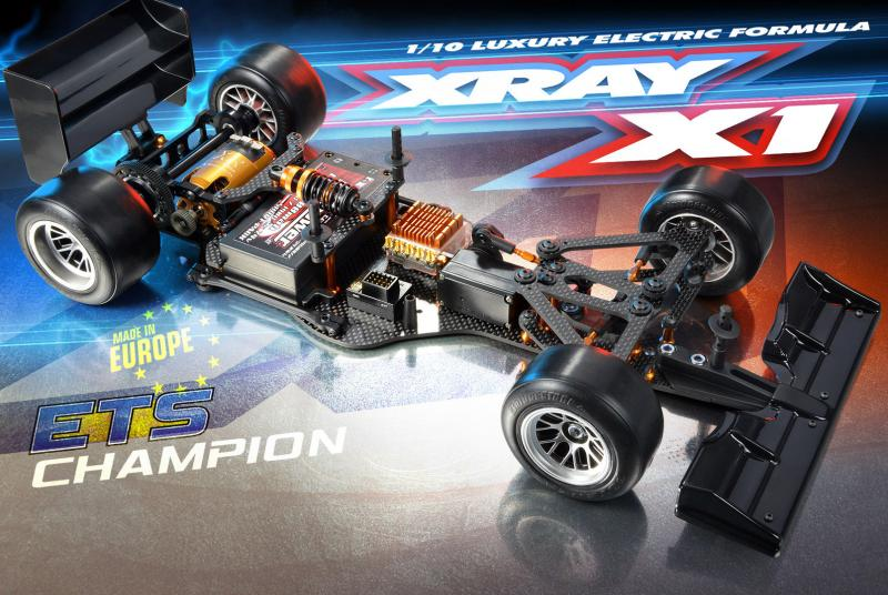 XRay X1 Formula 1 1/10th chassis kit.with body, 370700