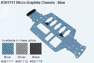 Micro Graphite Chassis - Blue