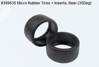 Micro Rubber Tires + Inserts, Rear (35Deg)